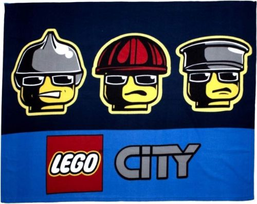 "Official Lego ""City Heroes"" Character Fleece Snuggle Blanket Throw"